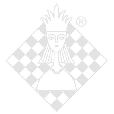 Mirage glass chess set, clear / white