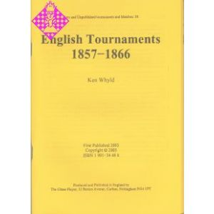 English Tournaments 1857 - 1866