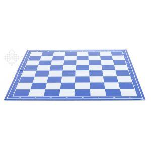 Schachplan, klappbar, blau/weiß
