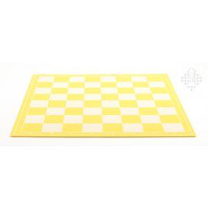 Schachplan, klappbar, gelb/weiß