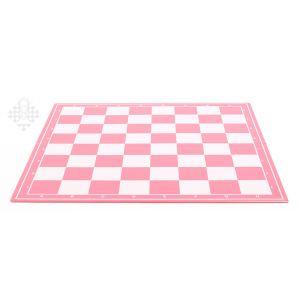 Schachplan, klappbar, pink/weiß