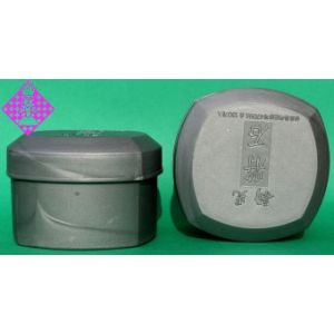 Korean Go Bowls, plastic, silver