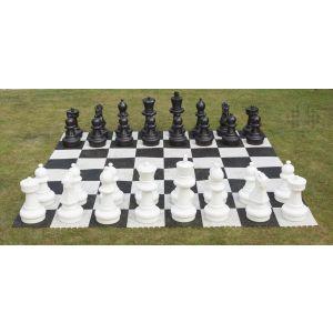Gartenschach-Set (Figuren + Spielfläche)