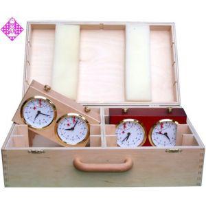 Koffer, Holz, für 8 x Schachuhr, groß
