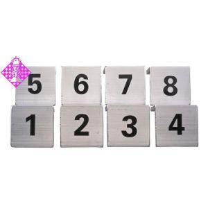 1 Satz Brettschilder (1-8)