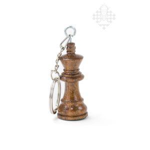 Schlüsselanhänger, König, Holz, dunkel