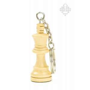 Schlüsselanhänger, König, Holz, hell
