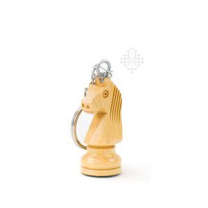 Schlüsselanhänger, Springer, Holz, hell
