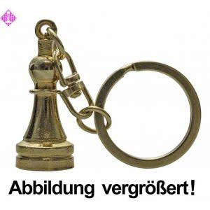 Schlüsselanhänger, Bauer, goldfarben