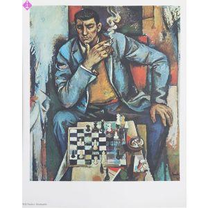 """Kunstdruck """"Der Schachspieler"""""""