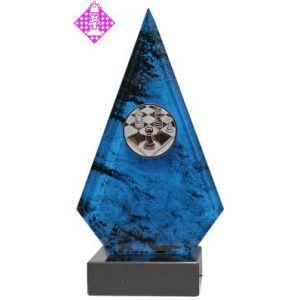 Marmor-Ständer, blau, 26 cm