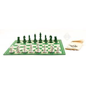 Schachset Green & White