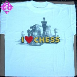 "T-Shirt ""I Love Chess"" S"