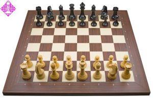 PC-Brett USB Rosenholz / Figuren FIDE