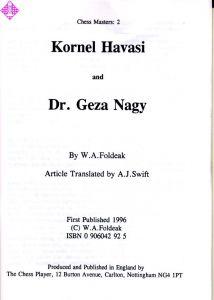 Kornel Havasi and Dr. Geza Nagy