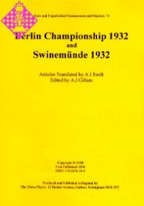 Berlin Championship 1932 and Swinemünde 1932