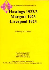 Hastings 1922/3, Margate 1923, Liverpool 1923