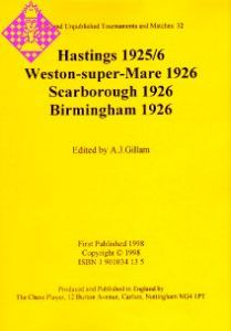 Hastings 1925/6, Weston-super-Mare 1926