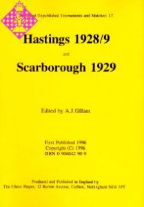 Hastings 1928/9, Scarborough 1929