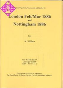 London Feb/Mar 1886 and Nottingham 1886