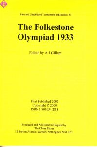 The Folkestone Olympiad 1933