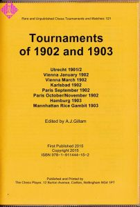 Tournaments of 1902 and 1903
