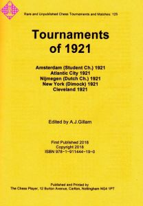 Tournaments of 1921