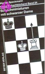 Schachminiaturen mit schwarzer Dame