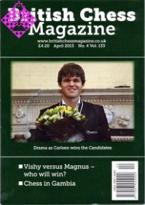 British Chess Magazine April 2013
