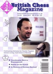 British Chess Magazine June 2013