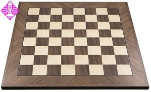 Schachbrett, Nussbaum diagonal, FG 45mm