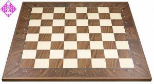 Schachbrett, de luxe Nußbaum diagonal FG 50mm
