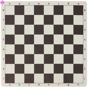 Schachplan rollbar, braun/weiß
