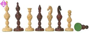 Figuren Lotus ruby carved