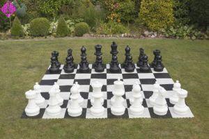 Gartenschach, halber Satz, nur schwarze Figuren