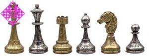 Figuren Metall eloxiert, silbern/golden