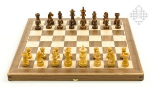 Schachkassette, Intarsie, Feldgröße 35 mm