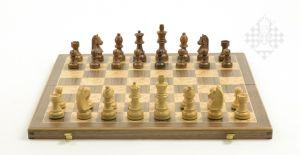 Schachkassette, Intarsie, Feldgröße 45 mm
