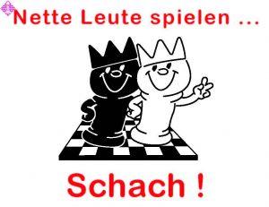 """Aufkleber """"Nette Leute spielen Schach"""""""